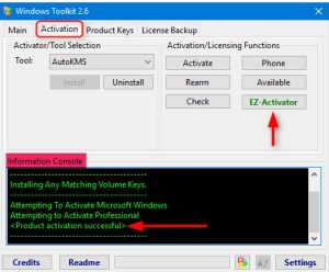 Microsoft Toolkit For Windows 10 & Office Activator